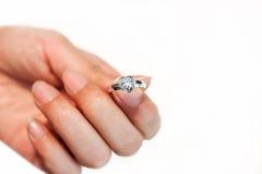 Fede nuziale del diamante Immagine Stock