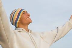 Fede, sorridere felice teenager Fotografie Stock Libere da Diritti