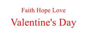 Fede, speranza, amore Giorno del `s del biglietto di S illustrazione vettoriale