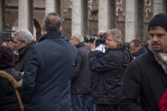 Fotografo nel quadrato di St Peter Fotografia Stock Libera da Diritti