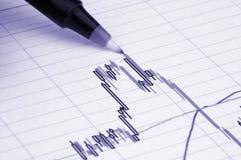 Feder, die Diagramm zeigt Stockfotografie