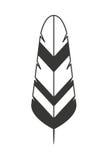 Feder lokalisiertes Ikonendesign Stockbild