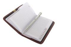 Feder mit Notizbuch Lizenzfreies Stockfoto