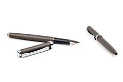 Feder- und Bleistiftset Lizenzfreies Stockbild