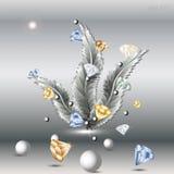 Feder und Diamant Stockbild