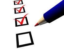 Feder und Fragebogen Vektor Abbildung