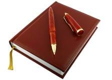 Feder und Tagebuch. Lizenzfreies Stockbild