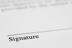 Feder und Unterzeichnung Stockfotografie