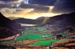Feder-y-Überschreiten Sie, Wales stockbild