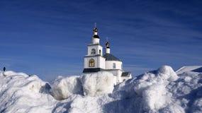 Federação Russa, região de Belgorod, vila de Shopino, igreja fotografia de stock royalty free