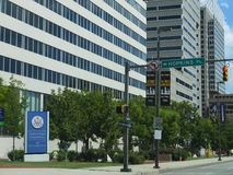Federaal gerechtsgebouw in Baltimore van de binnenstad, Maryland Stock Fotografie
