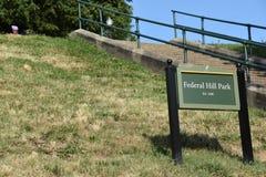 Federaal Heuvelpark in Baltimore stock afbeeldingen
