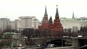 Federación de Moscú Kremlin.Russian almacen de video