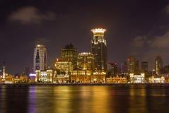 Federación de Shangai de la opinión de la noche del districto del pudong Imagen de archivo