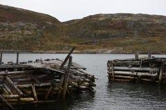 Federación Rusa abandonada norte de la región de Murmansk Rusia Fotos de archivo libres de regalías