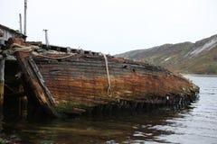 Federación Rusa abandonada norte de la región de Murmansk Rusia Foto de archivo libre de regalías
