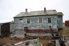 Federación Rusa abandonada norte de la región de Murmansk Rusia Imágenes de archivo libres de regalías