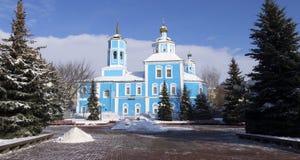 Federación Rusa, región de Belgorod, Belgorod, la catedral del icono, catedral de Bogia Materi Smolenskaya Smolensky, avenida civ fotos de archivo