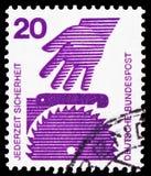 Federacyjna republika, przedstawienie kurenda zobaczył, Zapobiega, wypadku seria około 1972, obrazy stock