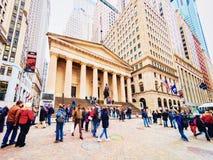Federacyjny Hall w Wall Street w lower manhattan zdjęcia stock
