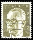 Federacyjny prezydent Dr Gustav Heinemann obraz stock