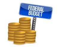 Federal budget coins Stock Photos