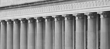 Federal Building Columns Stock Photo