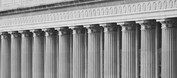 Federal Building Columns Royalty Free Stock Images