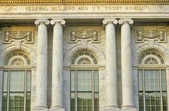 Federal byggnad och U S Domstolsbyggnad av Macon, Georgia arkivbild