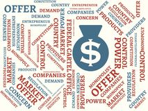FEDERAL CARTEL OFFICE - image with words associated with the topic MONOPOLY, word cloud, cube, letter, image, illustration Stock Image