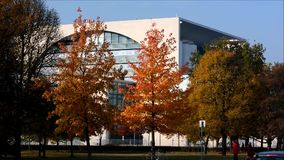 Federal Chancellery Bundeskanzleramt in Berlin, Germany. Federal Chancellery Bundeskanzleramt in Berlin on October 28, 2015, Germany stock footage