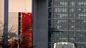 Federal Chancellery Bundeskanzleramt in Berlin, Germany. Federal Chancellery Bundeskanzleramt in Berlin on October 28, 2015, Germany stock video footage