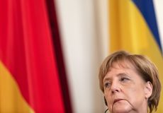 Federal Chancellor of the Federal Republic of Germany Angela Mer royalty free stock photo