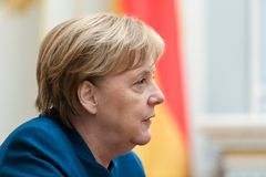 Federal Chancellor of the Federal Republic of Germany Angela Mer stock photos