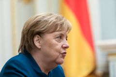 Federal Chancellor of the Federal Republic of Germany Angela Mer royalty free stock images