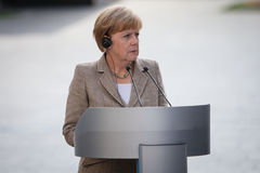 Federal Chancellor of Germany Angela Merkel during a working vis Stock Images