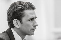 Federal Chancellor of the Republic of Austria Sebastian Kurz Stock Photography