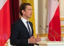 Federal Chancellor of the Republic of Austria Sebastian Kurz Royalty Free Stock Photography