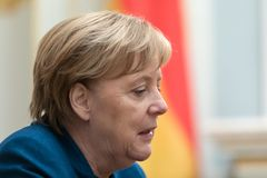 Federal Chancellor of the Federal Republic of Germany Angela Mer royalty free stock photos