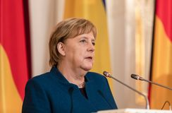 Federal Chancellor of the Federal Republic of Germany Angela Mer stock photo