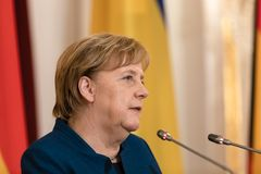 Federal Chancellor of the Federal Republic of Germany Angela Mer royalty free stock image