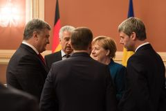 Federal Chancellor of the Federal Republic of Germany Angela Mer royalty free stock photography