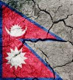 Federal Democratic Republic of Nepal flag royalty free stock photo