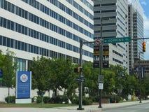 Federal domstolsbyggnad i i stadens centrum Baltimore, Maryland Arkivbild