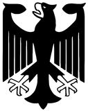 Federal eagle of Germany. (Illustration) on white background Royalty Free Stock Photo