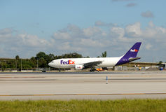 Federal Express cargo jet Stock Image