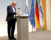 Federal Foreign Minister Dr Frank-Walter Steinmeier holds a press conference Royalty Free Stock Photography