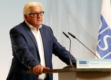 Federal Foreign Minister Dr Frank-Walter Steinmeier holds a press conference Royalty Free Stock Image