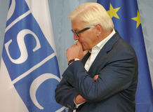 Federal Foreign Minister Dr Frank-Walter Steinmeier at the Informal OSCE Foreign Minister's Meeting held in Potsdam, Germany Stock Photo