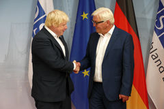 Federal Foreign Minister Dr Frank-Walter Steinmeier welcomes Boris Johnson Royalty Free Stock Photo